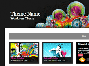 Универсальная тема Ворд пресс Animated-rainbow
