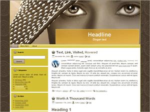 Женский шаблон WordPress Sensational-beauty-eyes