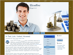 Бизнес шаблон Ворд пресс Trading-stocks
