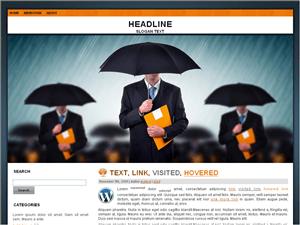 Шаблон бизнес для Вордпресс Umbrella-on-a-rainyday