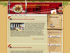 Кулинарный шаблон Вордпресс China-town
