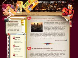 Wordpress шаблон дизайн Designer-handbags