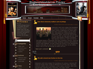 Кино тема Wordpress Golden-eye
