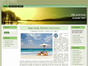 Wordpress тема отдых Greenscape