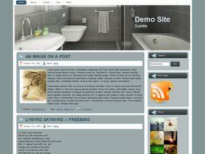 Современная Вордпресс тема Gray-bathroom
