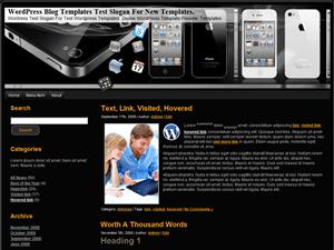 Wordpress шаблон техно Black-And-White-iPhone