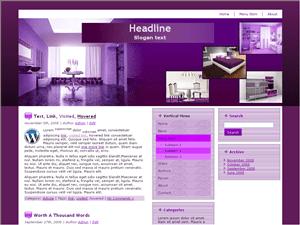 Шаблон Вордпресс мебель и интерьер Purple-furniture