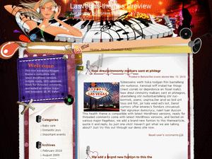 Молодежный шаблон Wordpress Singing-girl