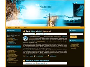 Вордпресс шаблон на тему туризма Travel-blog