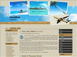 Wordpress тема путешествия Travel-planning