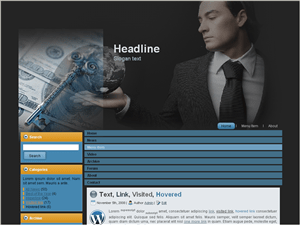 Шаблон на тематику бизнеса Business-advise