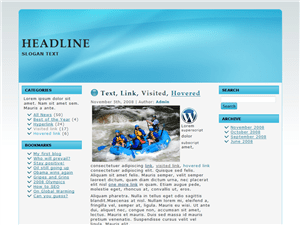 Шаблон для блога Basic-Blue