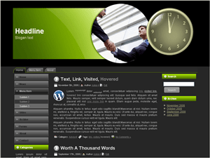 Вордпресс тема о бизнесе Business-bid