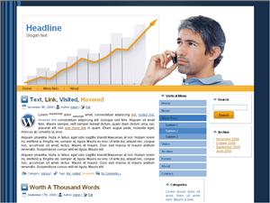 Wordpress тема о бизнесе Business-charts