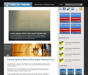 Современная Вордпресс тема Delta