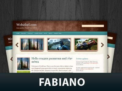 Современный шаблон Вордпресс Fabiano