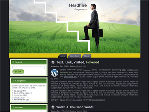 Бизнес тема WordPress High-business-steps