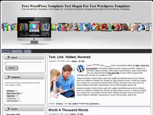 Шаблон WordPress техно iMac