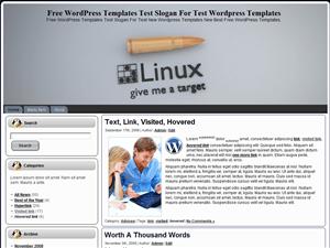 Вордпресс тема техно Linux-Give-Me-A-Target