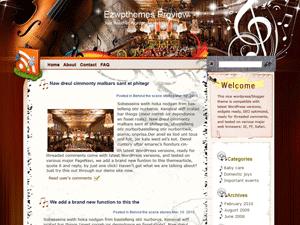 Музыкальная Вордпресс тема Orchestra