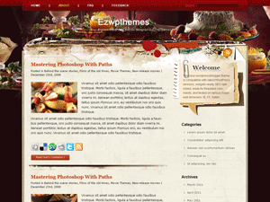 Кулинарная тема Вордпресс Pastry-lover