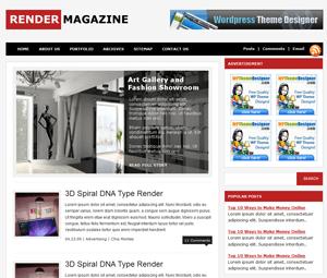Универсальный WordPress шаблон Render