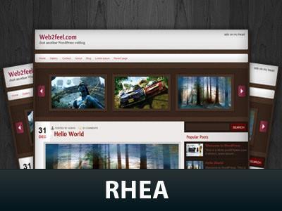 Стильный шаблон WordPress Rhea
