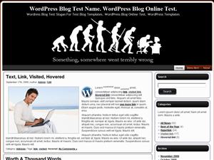 Wordpress шаблон персональный блог Something-Somewhere