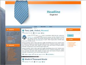 Бизнес тема Вордпресс Tie-for-businesspeople