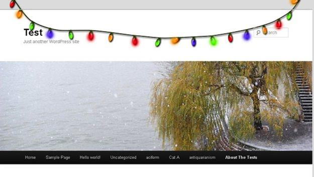 Украшаем свой WordPress блог к Новому году