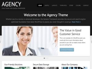 Вордпресс тема о бизнесе Agency