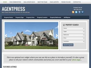 Wordpress тема недвижимость Agentpress