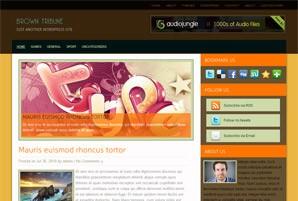 Стильный шаблон WordPress Browntribune