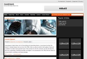 Вордпресс шаблон игры Gamemag