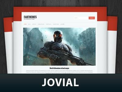 Первая Вордпресс тема Jovial 2014