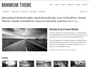 Wordpress тема премиум Minimum