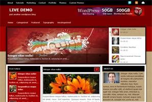 Яркая WordPress тема Redmagazine