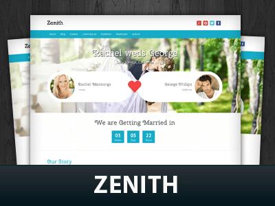 Вордпресс тема для свадебного сайта Zenith