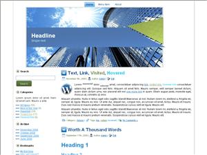 Wordpress тема о недвижимости Skyscrapers