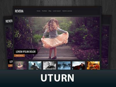 Современная Вордпресс тема Uturn