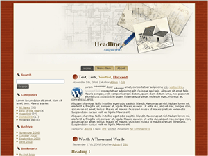 Wordpress тема архитектура Layout-archetecture