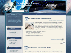 Wordpress шаблон космос Astronavigation