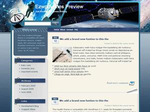 Wordpress шаблон космос Astronavigation