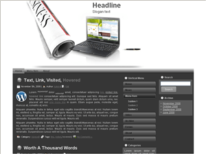 Шаблон Вордпресс бизнес Business-line