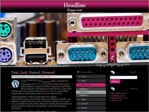 Шаблон WordPress компьютеры Cable-connectors