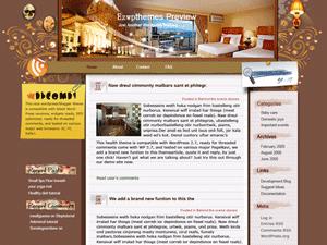 Wordpress шаблон интерьер Charming-Hotel