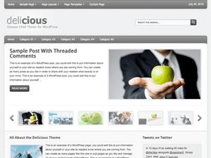 Бизнес шаблон для Вордпресс Deliciuos