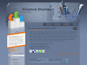 Wordpress тема финансы Finance-theme