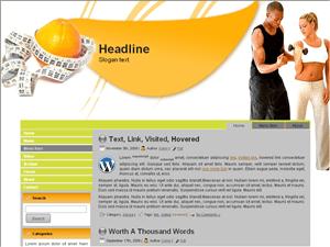 Wordpress тема фитнес Fitness-club-info