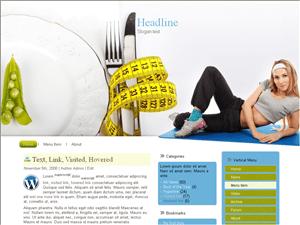 Wordpress тема фитнес Fitness-diet-control